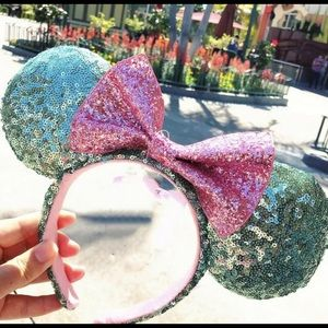 Mint and Pink Minnie ears